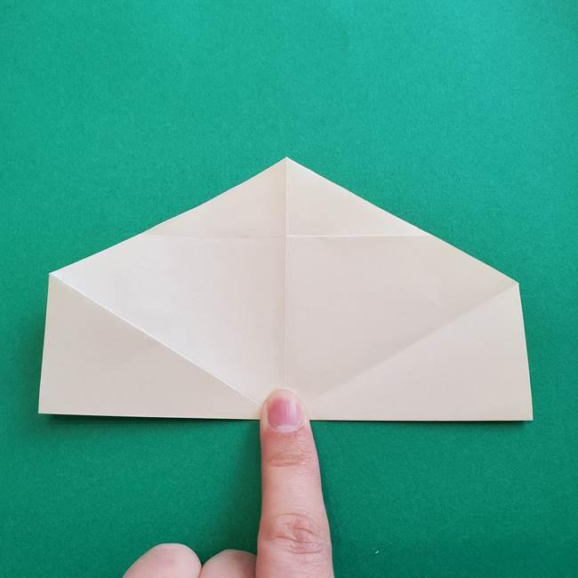 水仙の折り紙 平面の折り方作り方②花(1)