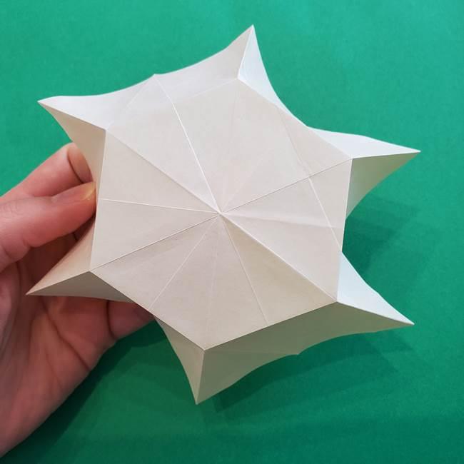 水仙の折り紙 平面の折り方作り方②花(13)