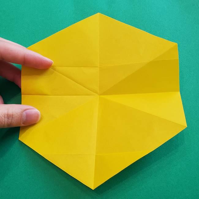 水仙の折り紙 平面の折り方作り方②花(2)