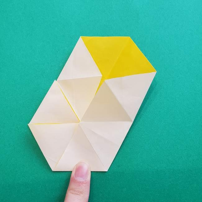 水仙の折り紙 平面の折り方作り方②花(25)