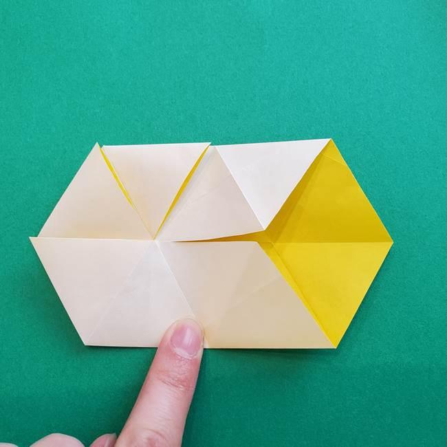 水仙の折り紙 平面の折り方作り方②花(26)