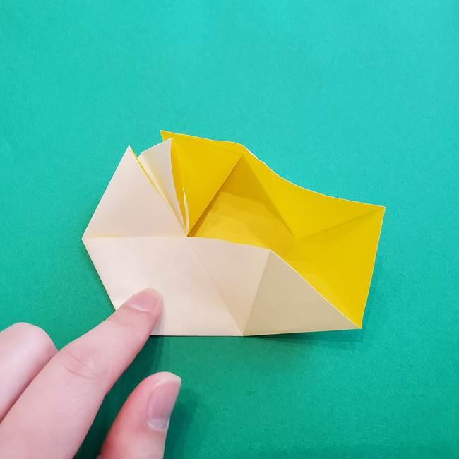 水仙の折り紙 平面の折り方作り方②花(29)