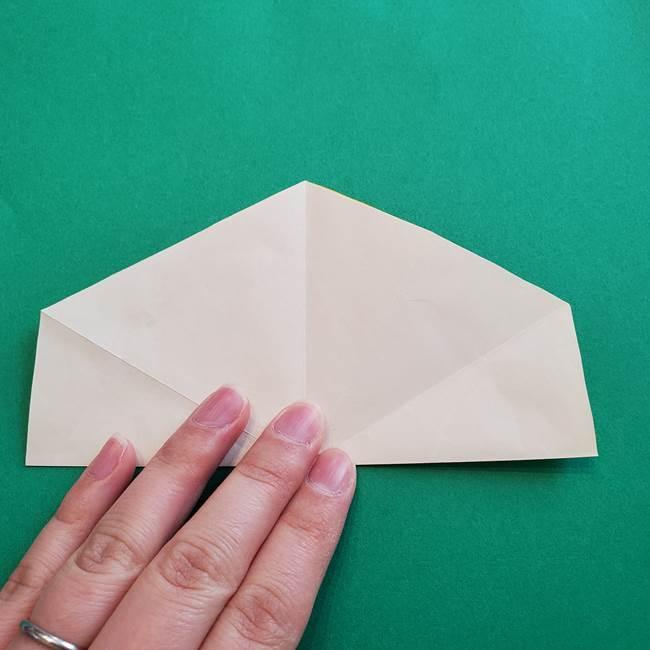 水仙の折り紙 平面の折り方作り方②花(4)