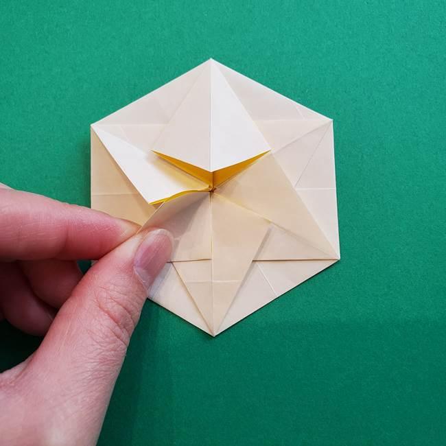 水仙の折り紙 平面の折り方作り方②花(41)