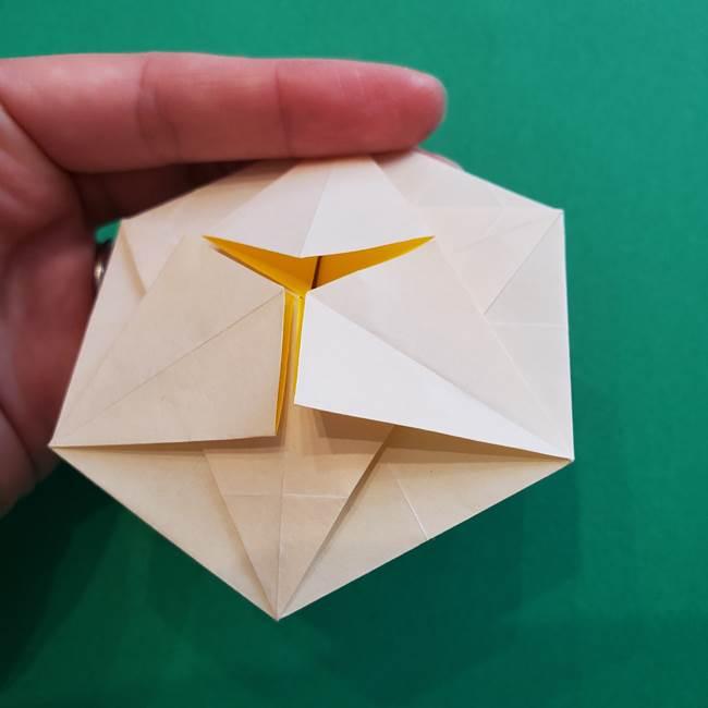 水仙の折り紙 平面の折り方作り方②花(42)