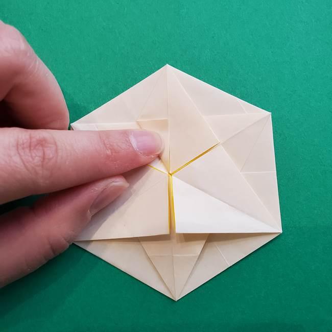 水仙の折り紙 平面の折り方作り方②花(43)