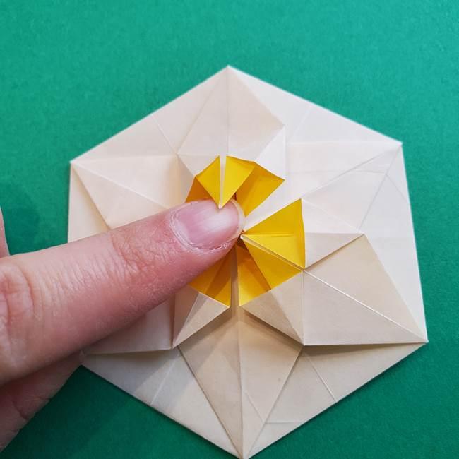 水仙の折り紙 平面の折り方作り方②花(49)