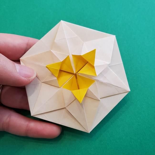 水仙の折り紙 平面の折り方作り方②花(50)