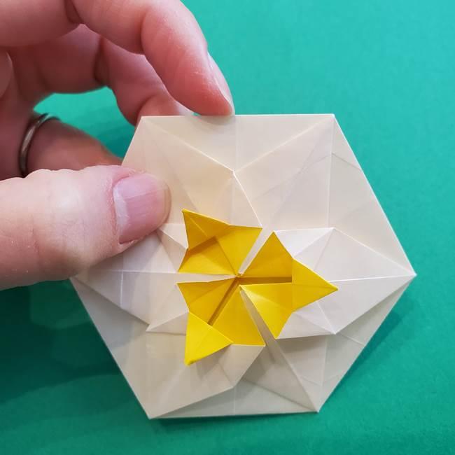 水仙の折り紙 平面の折り方作り方②花(51)