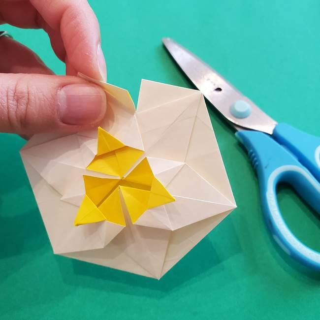 水仙の折り紙 平面の折り方作り方②花(52)
