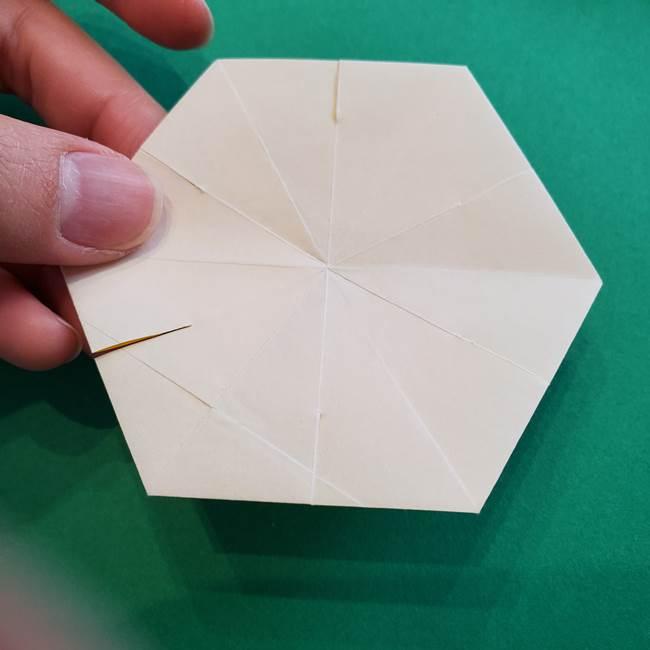 水仙の折り紙 平面の折り方作り方②花(53)