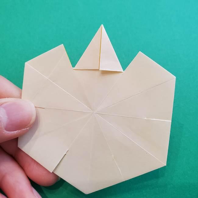水仙の折り紙 平面の折り方作り方②花(54)