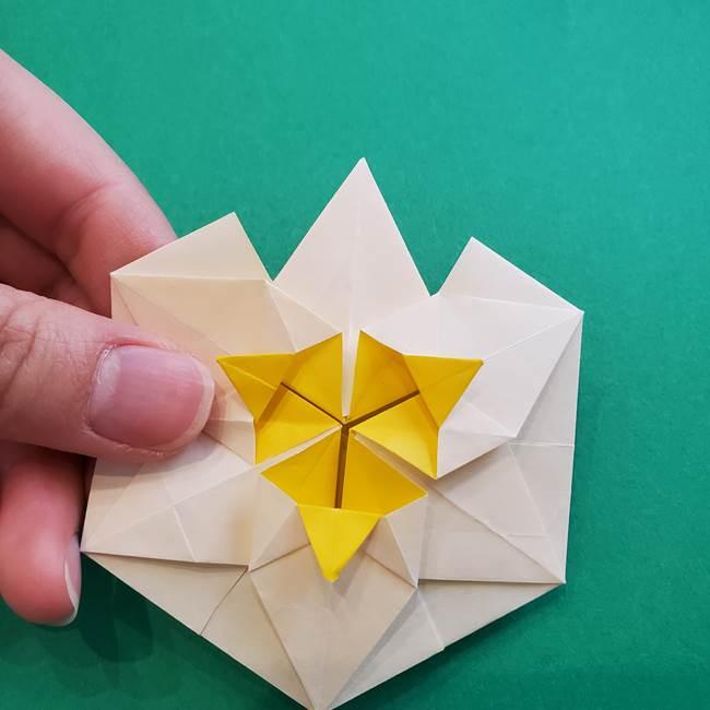 水仙の折り紙 平面の折り方作り方②花(55)