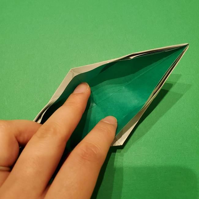 笹船の折り紙の折り方作り方(12)