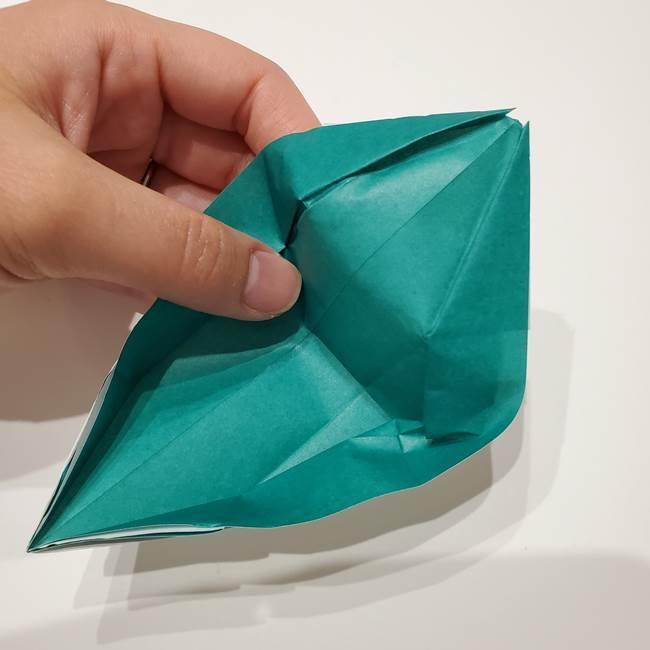 笹船の折り紙の折り方作り方(13)