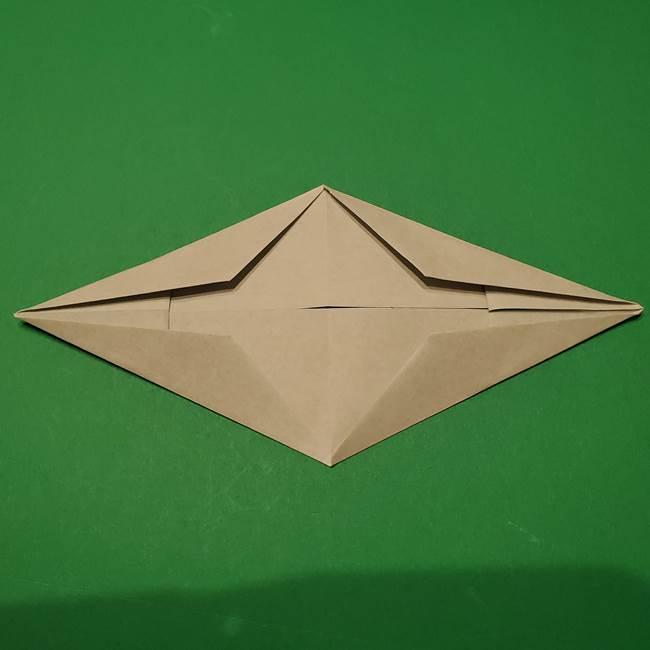 笹船の折り紙の折り方作り方(9)