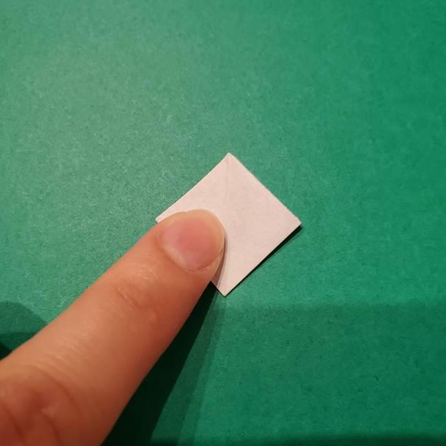 紫陽花の折り紙 子ども幼児向けの折り方作り方(11)