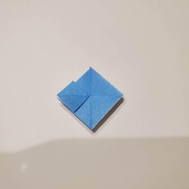 紫陽花の折り紙 子ども幼児向けの折り方作り方(15)