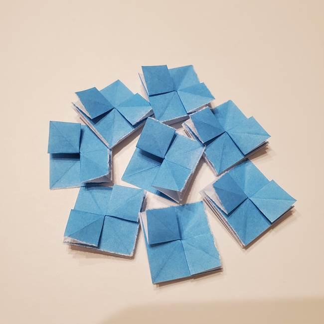 紫陽花の折り紙 子ども幼児向けの折り方作り方(17)