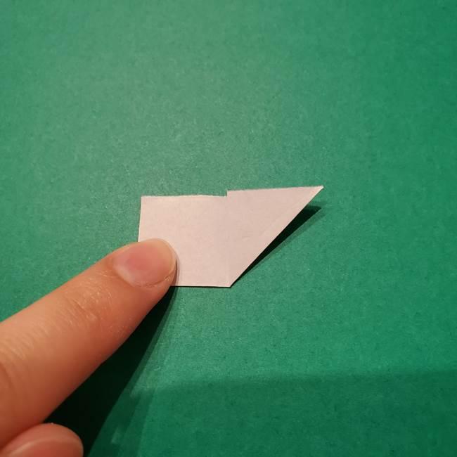 紫陽花の折り紙 子ども幼児向けの折り方作り方(5)