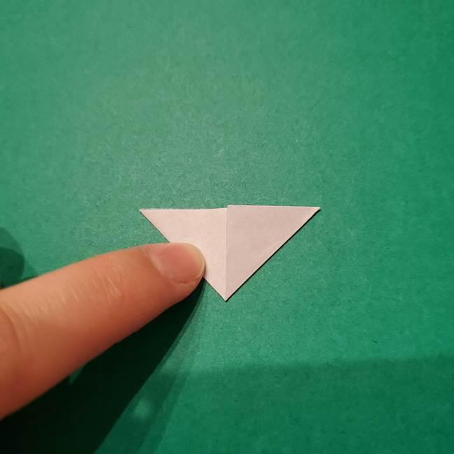 紫陽花の折り紙 子ども幼児向けの折り方作り方(7)