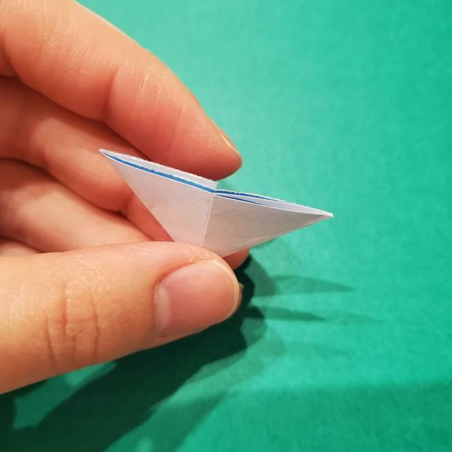 紫陽花の折り紙 子ども幼児向けの折り方作り方(8)