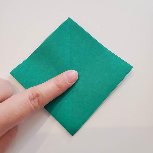 紫陽花の折り紙 葉っぱの作り方折り方(13)