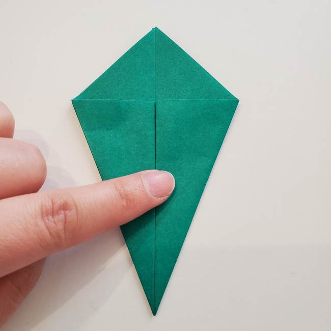 紫陽花の折り紙 葉っぱの作り方折り方(14)