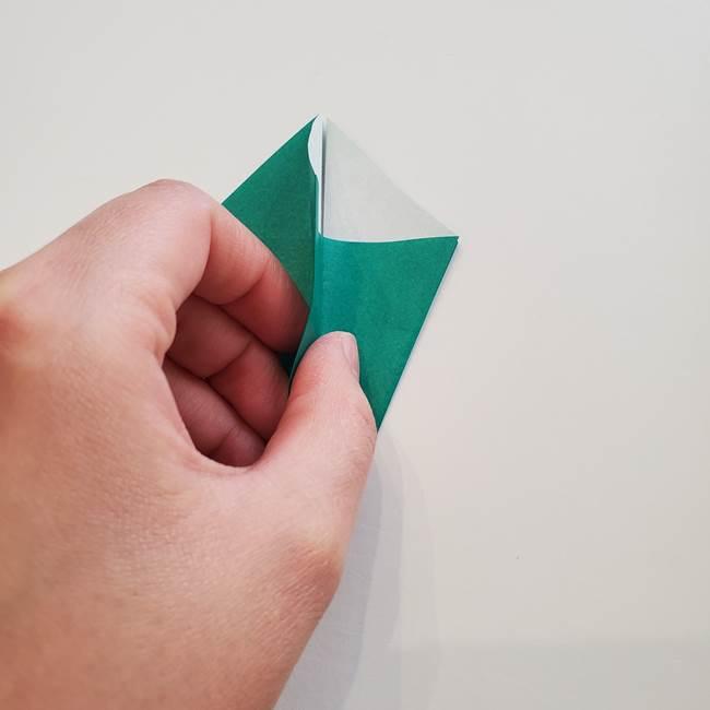 紫陽花の折り紙 葉っぱの作り方折り方(18)