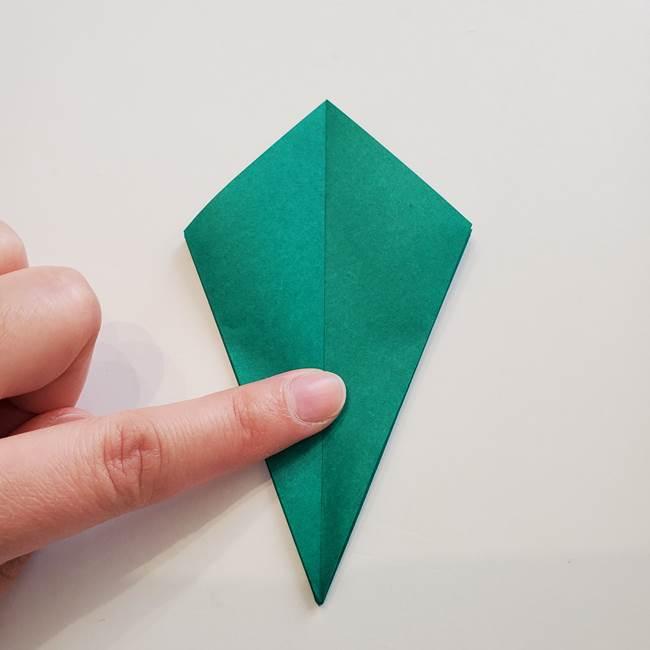 紫陽花の折り紙 葉っぱの作り方折り方(22)