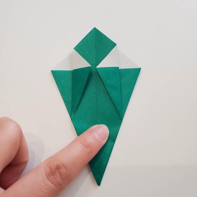 紫陽花の折り紙 葉っぱの作り方折り方(26)