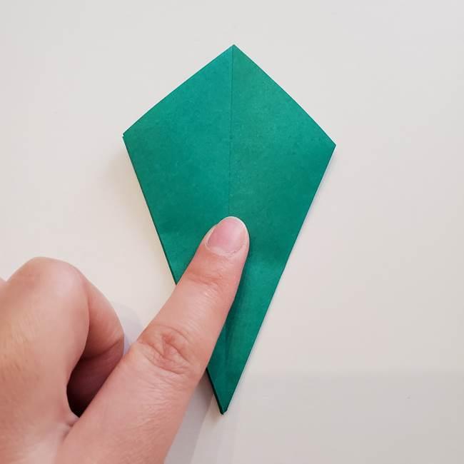 紫陽花の折り紙 葉っぱの作り方折り方(27)