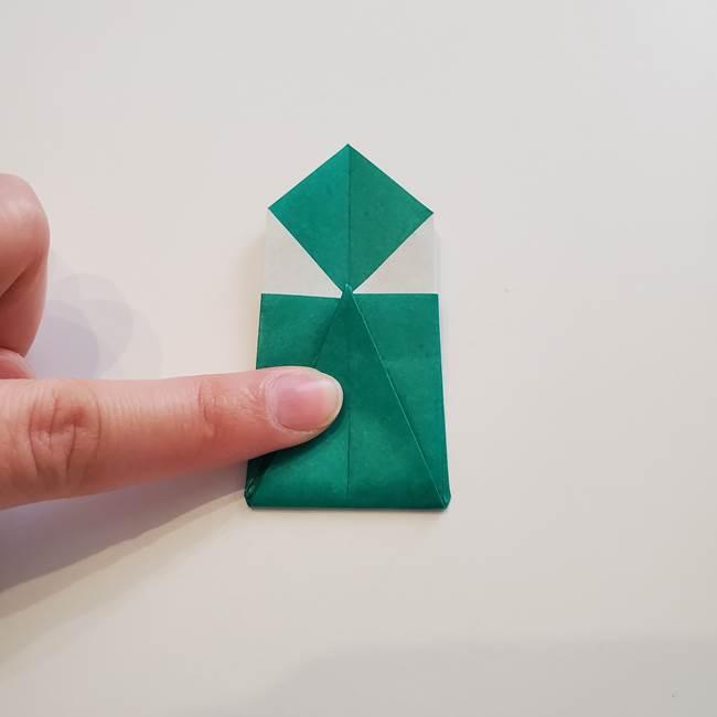 紫陽花の折り紙 葉っぱの作り方折り方(29)