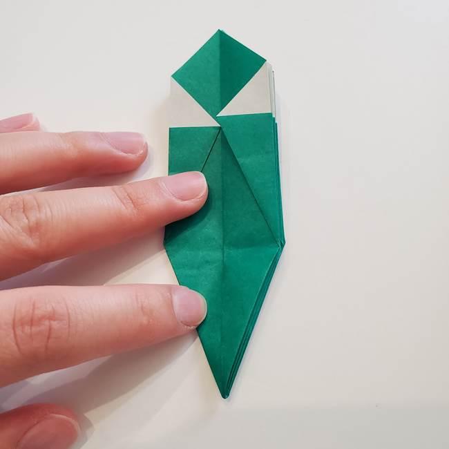 紫陽花の折り紙 葉っぱの作り方折り方(30)