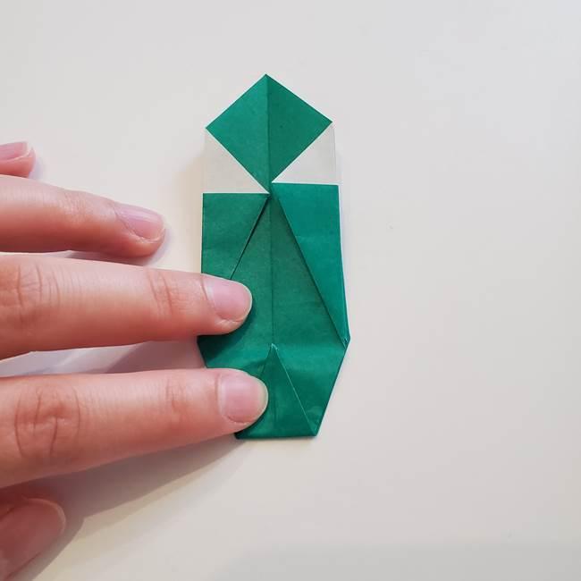 紫陽花の折り紙 葉っぱの作り方折り方(31)