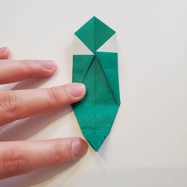 紫陽花の折り紙 葉っぱの作り方折り方(32)