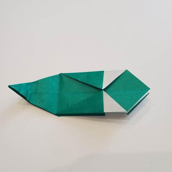 紫陽花の折り紙 葉っぱの作り方折り方(33)