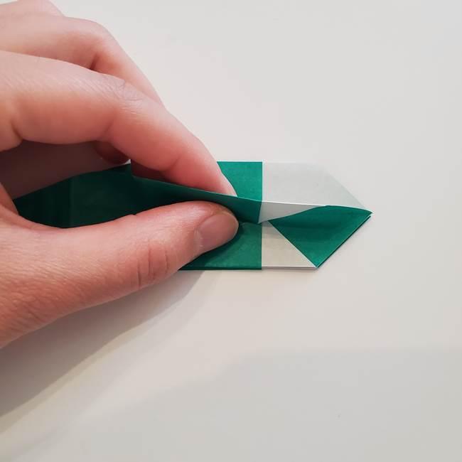 紫陽花の折り紙 葉っぱの作り方折り方(34)