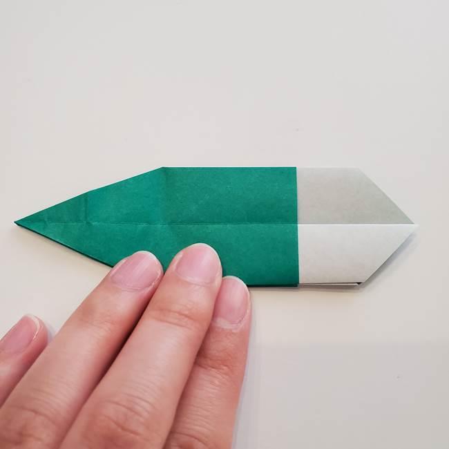 紫陽花の折り紙 葉っぱの作り方折り方(35)