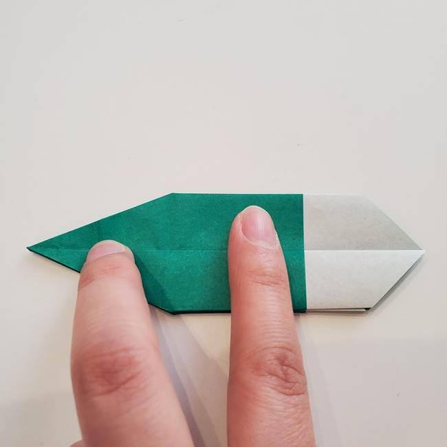 紫陽花の折り紙 葉っぱの作り方折り方(36)