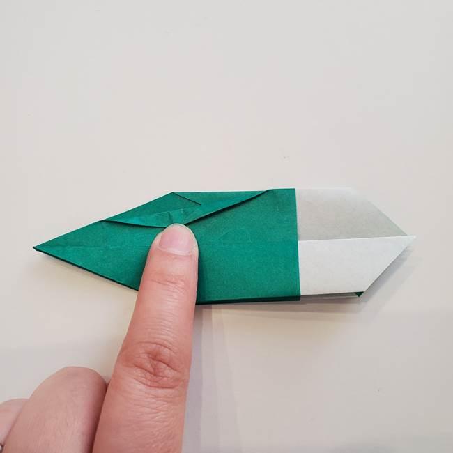紫陽花の折り紙 葉っぱの作り方折り方(37)