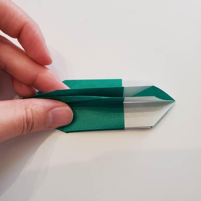紫陽花の折り紙 葉っぱの作り方折り方(38)