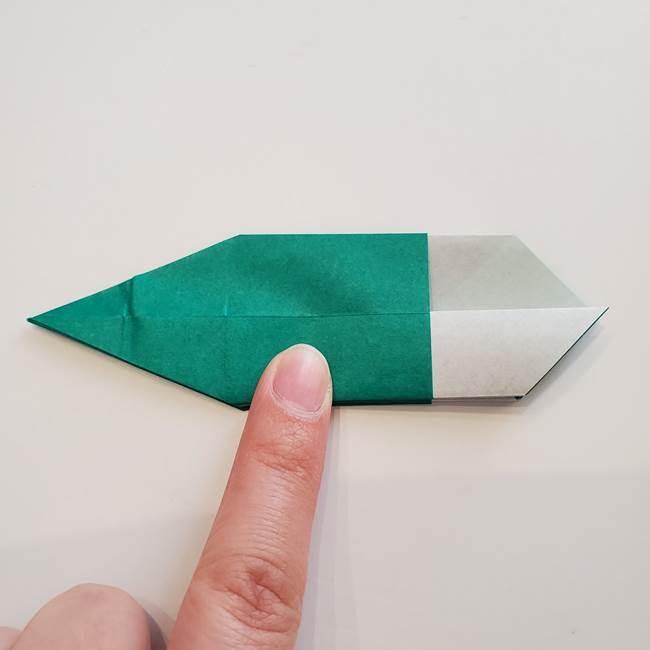紫陽花の折り紙 葉っぱの作り方折り方(39)