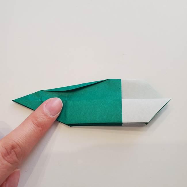 紫陽花の折り紙 葉っぱの作り方折り方(40)