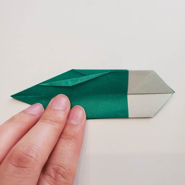 紫陽花の折り紙 葉っぱの作り方折り方(41)