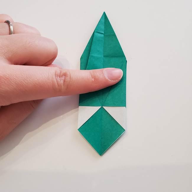 紫陽花の折り紙 葉っぱの作り方折り方(42)