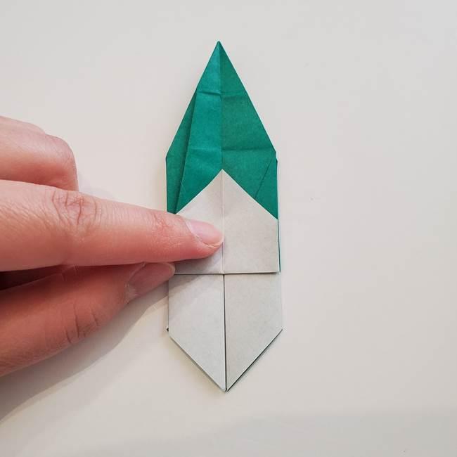 紫陽花の折り紙 葉っぱの作り方折り方(43)