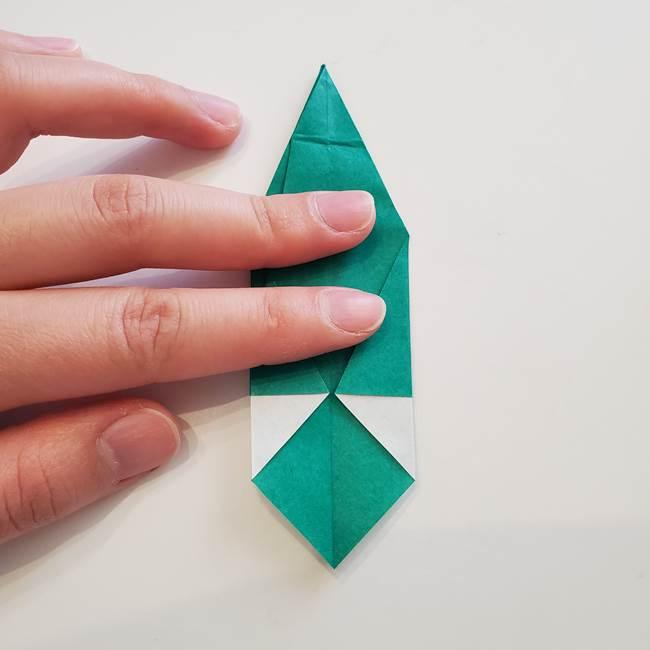 紫陽花の折り紙 葉っぱの作り方折り方(44)