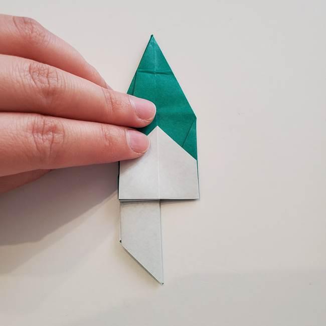 紫陽花の折り紙 葉っぱの作り方折り方(45)
