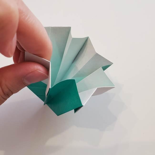 紫陽花の折り紙 葉っぱの作り方折り方(47)